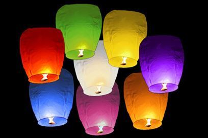 Lampiony štěstí 10 ks mix barev