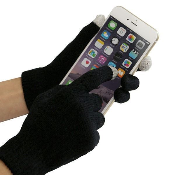 Rukavice pro smartphony (40 g) černé