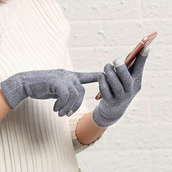 Obrázek Rukavice pro smartphony (40 g) šedé