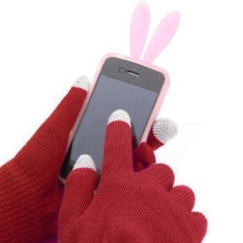 Obrázek Rukavice pro smartphony bordó