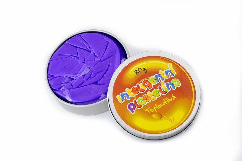 Inteligentní plastelína - teplocitlivá - fialová