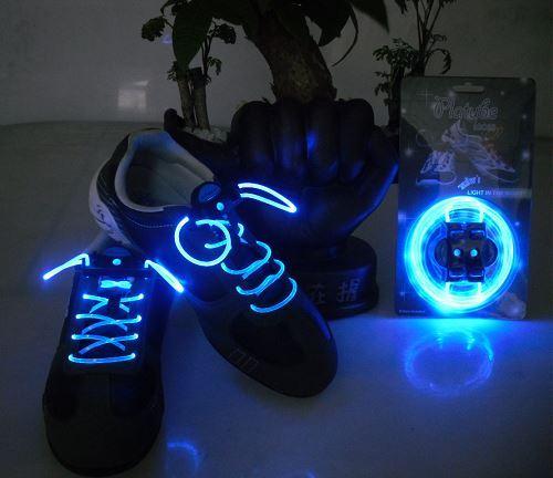 LED svítící tkaničky - modré