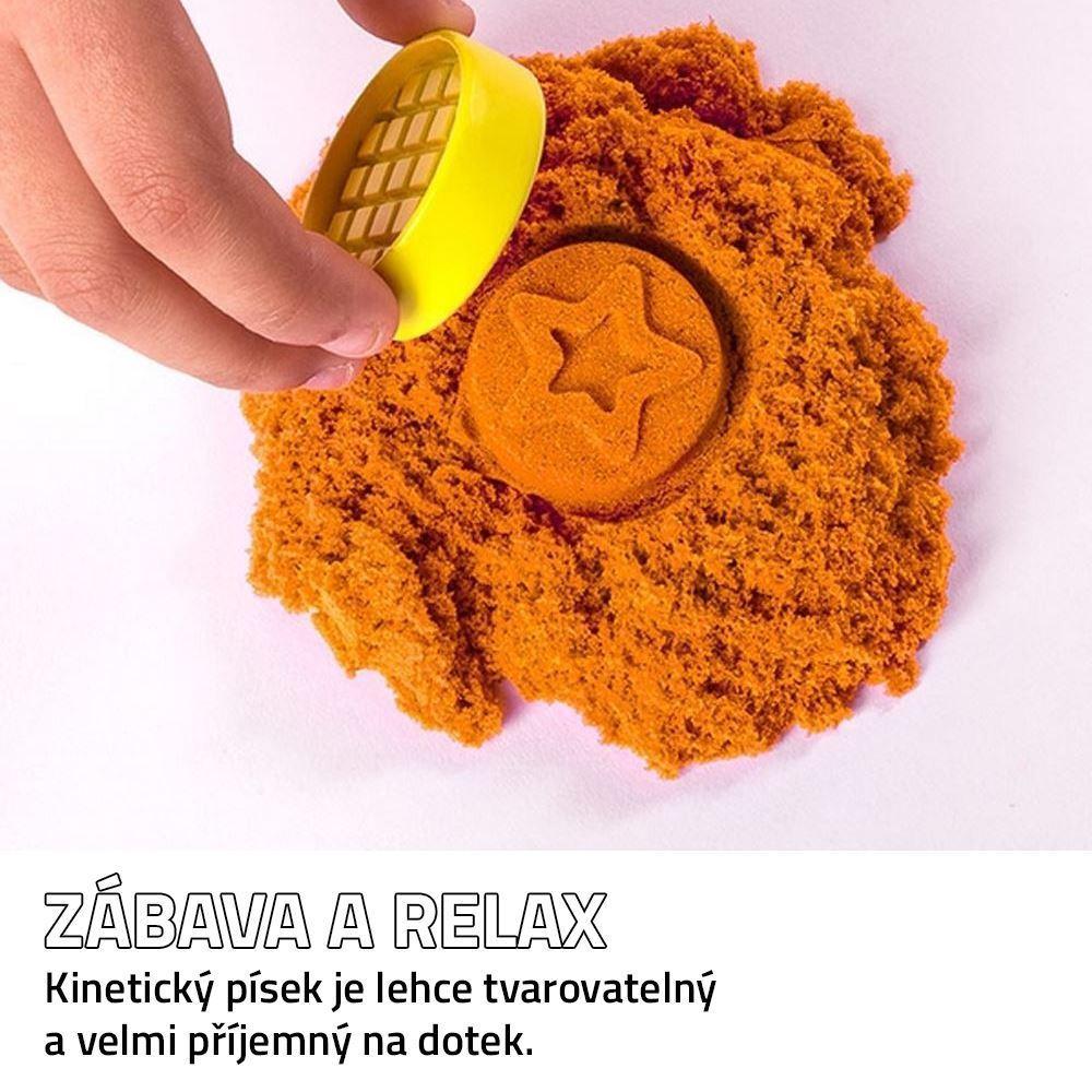 Tekutý kinetický písek střední set 1000 g - plastový kyblík