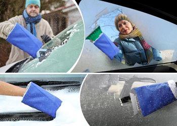 Obrázek Autoškrabka s teplou rukavicí