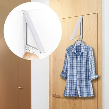 Obrázek Závěsný věšák na oděv - bílý