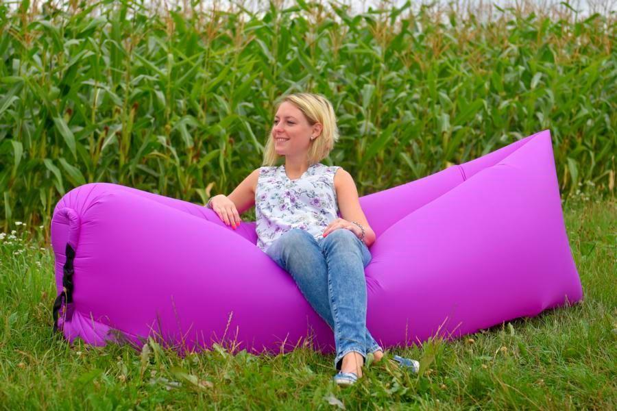 Nafukovací vak Lazy bag jednovrstvý - fialový