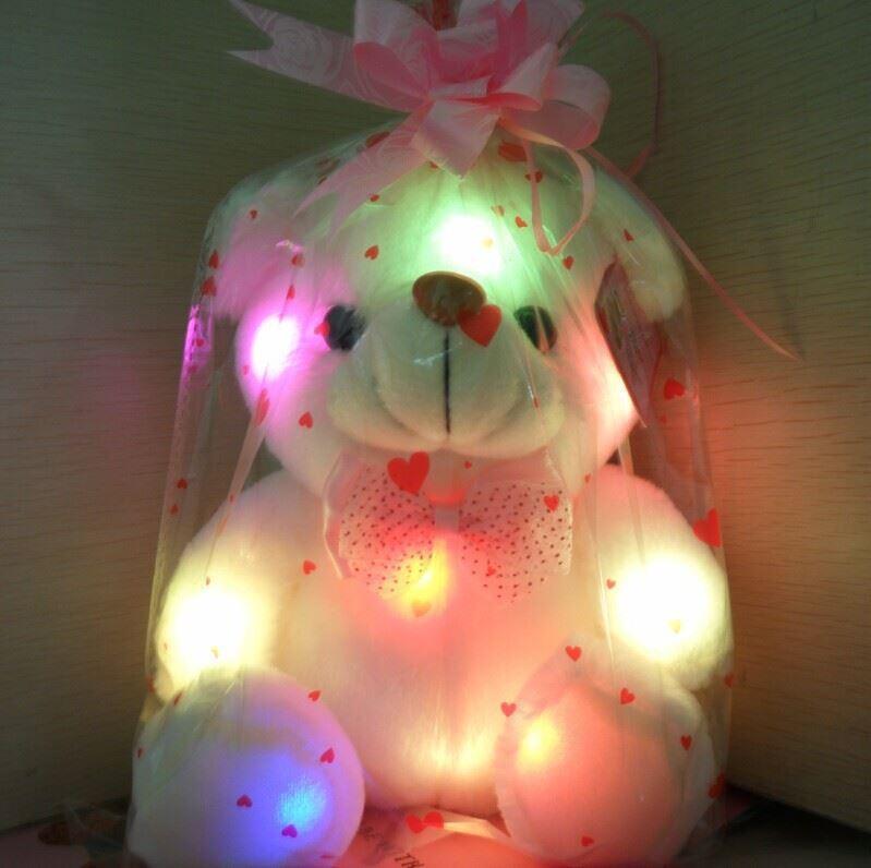 Svítící medvídek - bílý