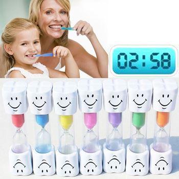Obrázek Přesýpací hodiny na čištění zubů - růžové