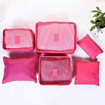 Obrázek Sada cestovních organizérů do kufru - tmavě růžová
