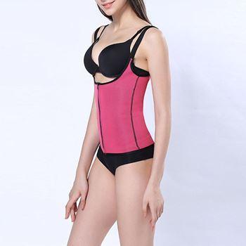Obrázek Sportovní vesta se sauna efektem L - růžová