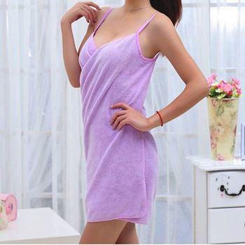 Obrázek Ručníkové šaty - fialové