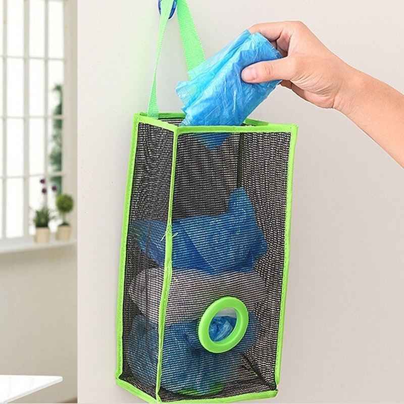 Zásobník na igelitové pytlíky - zelený