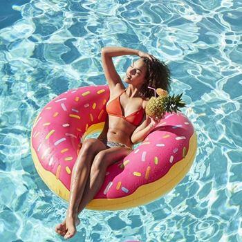 Obrázek Nafukovací kruh Donut - růžový