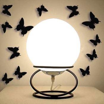 Obrázek 3D motýlci na zeď - černá