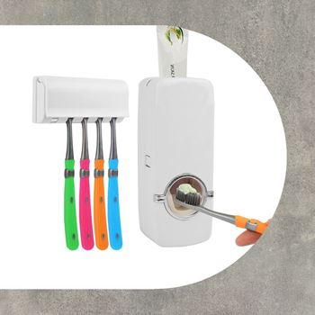 Obrázek Dávkovač zubní pasty + držák kartáčků