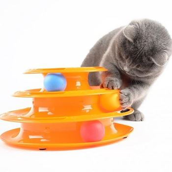 Obrázek Hračka pro kočky - pyramida