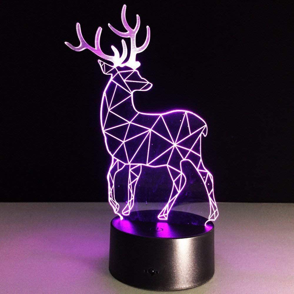 Lampa s 3D iluzí - jelen