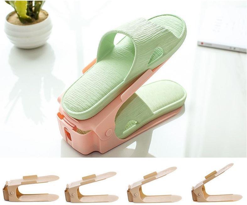 Plastový organizér na boty - růžový