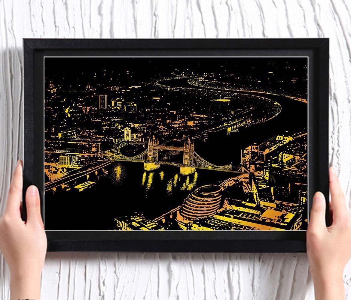 Stírací obraz - Londýn