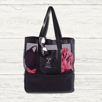 Obrázek Plážová taška s termo přihrádkou - černá
