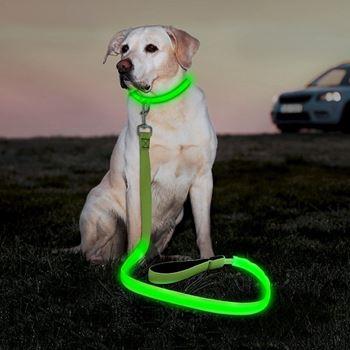 Obrázek Textilní svítící vodítko - zelené