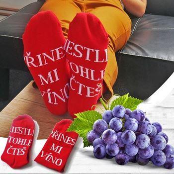 Obrázek Ponožky - Přines mi víno