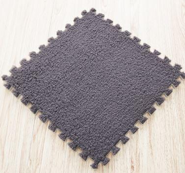 Puzzle kobereček - 6 ks - šedý