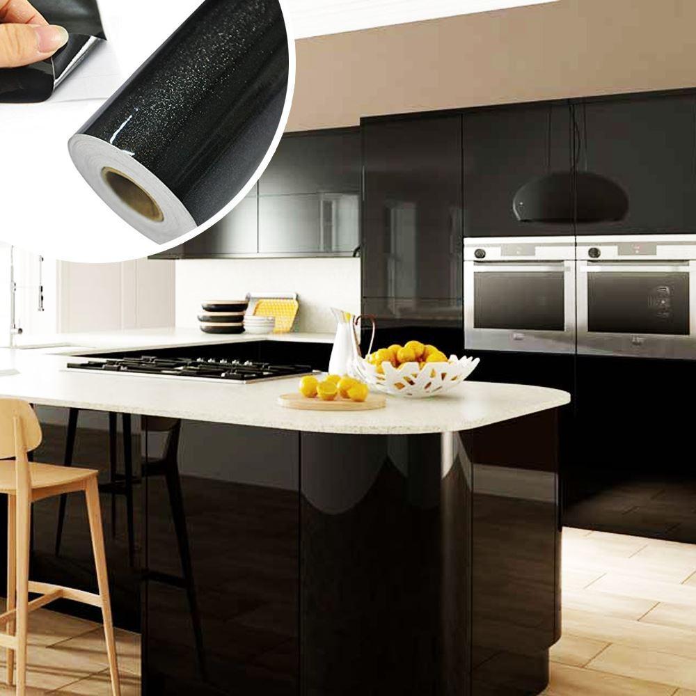 Fólie na obnovu kuchyňské linky - černá