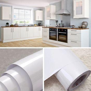 Obrázek Fólie na obnovu kuchyňské linky - bílá