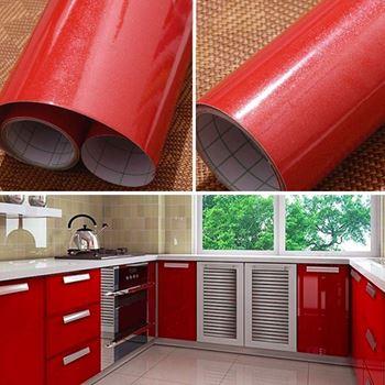 Obrázek Fólie na obnovu kuchyňské linky - červená
