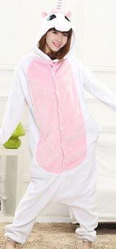 Obrázek Zvířecí overal - růžový jednorožec - XL