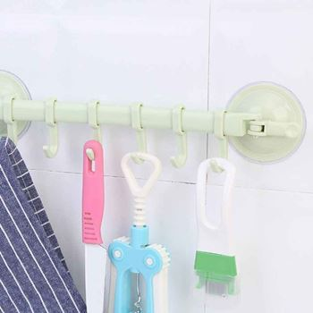 Obrázek Přenosný držák s háčky - zelený