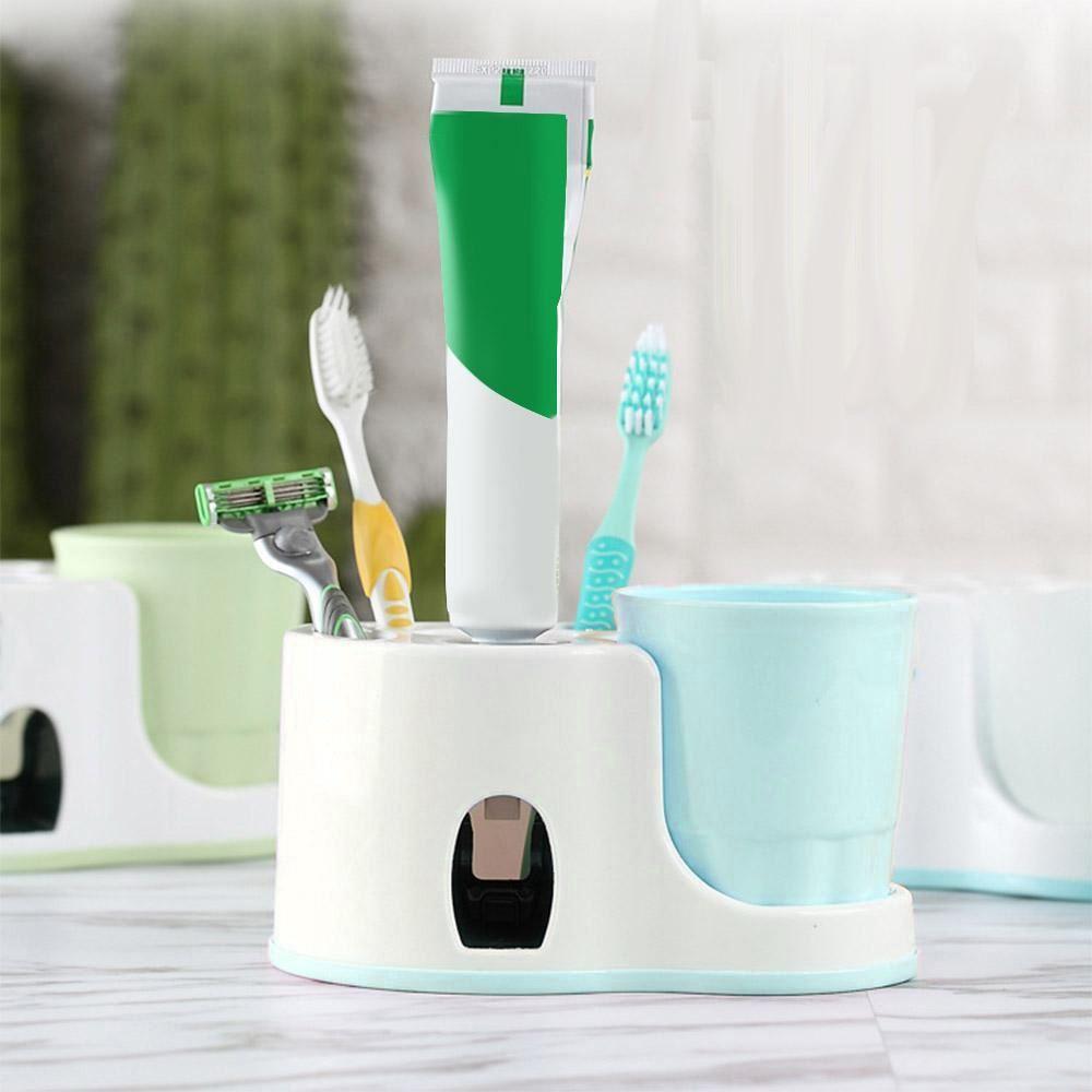 Koupelnový držák s dávkovačem pasty