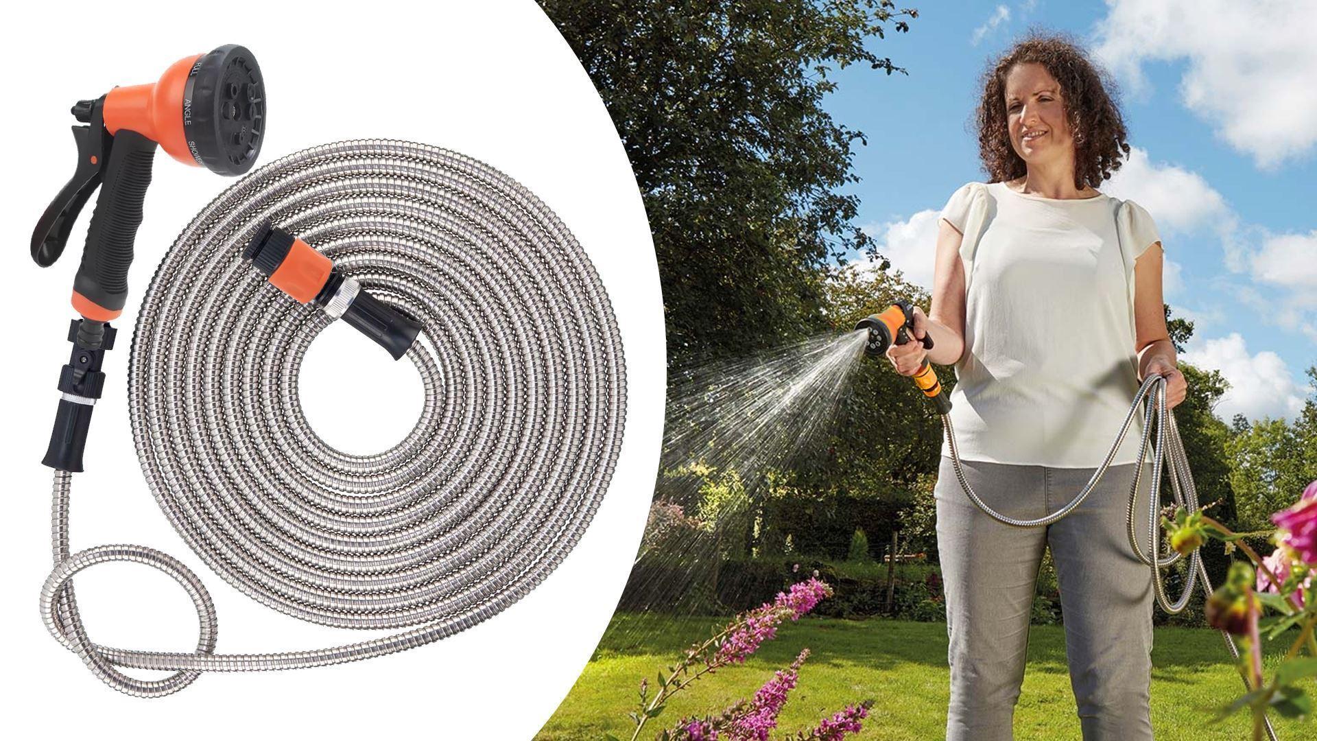 Zahradní nerezová hadice - 22,5m