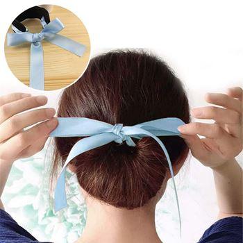 Obrázek Klip do vlasů s mašlí - světle modrý