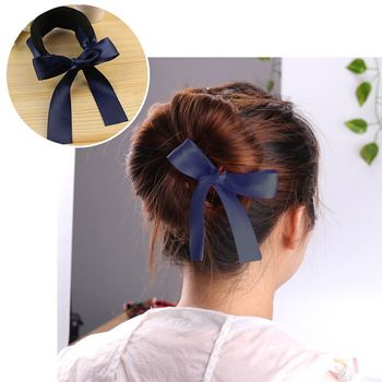 Obrázek Klip do vlasů s mašlí - tmavě modrý