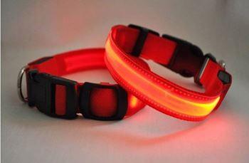 Obrázek z Svítící obojek - červený L