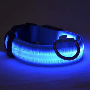Obrázek z Svítící obojek - modrý M
