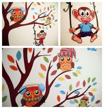 Obrázek Samolepky na zeď - Veselé opice