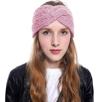 Obrázek Pletená čelenka - růžová