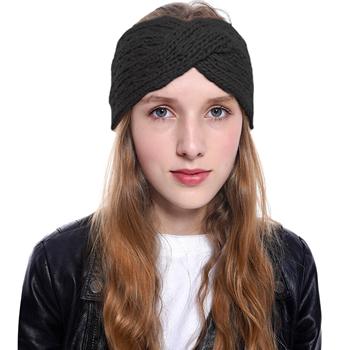 Obrázek Pletená čelenka - černá