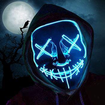 Obrázek Děsivá svítící maska - modrá