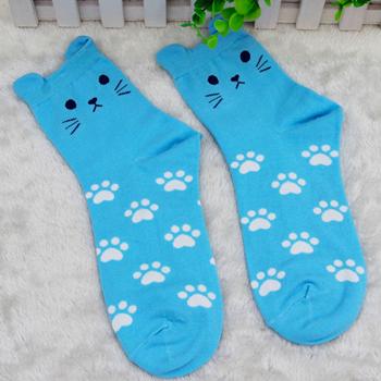 Obrázek Kočičí ponožky - modré