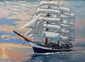 Obrázek Diamantové malování - plachetnice