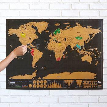 Obrázek z Stírací mapa světa deluxe - černá