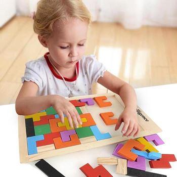 Obrázek Dřevěné puzzle - tvary