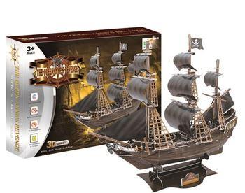 Obrázek 3D puzzle pro děti - pirátská loď