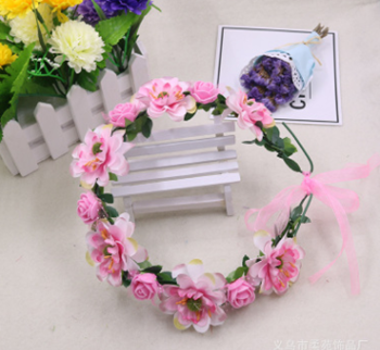 Obrázek Květinová čelenka - růžová
