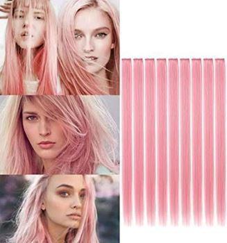Obrázek Barevné příčesky do vlasů - růžové