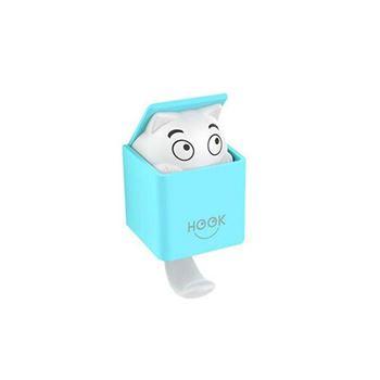 Obrázek Nalepovací háček kočka - modrý